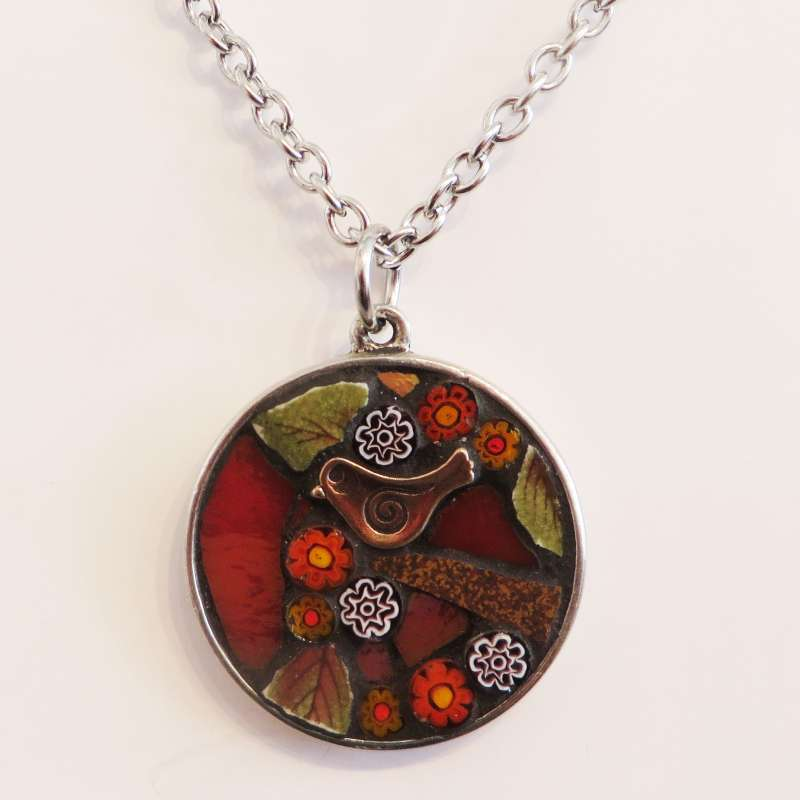 Red Round Necklace