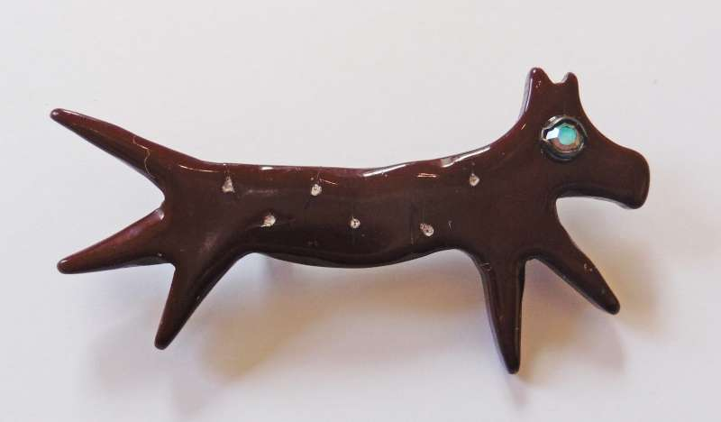 Chocolate Dog Brooch