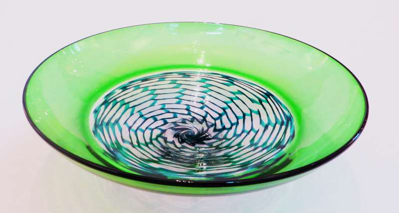 Green Open Lattice Bowl