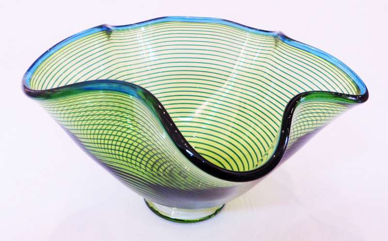 Medium Green Venetian Bowl