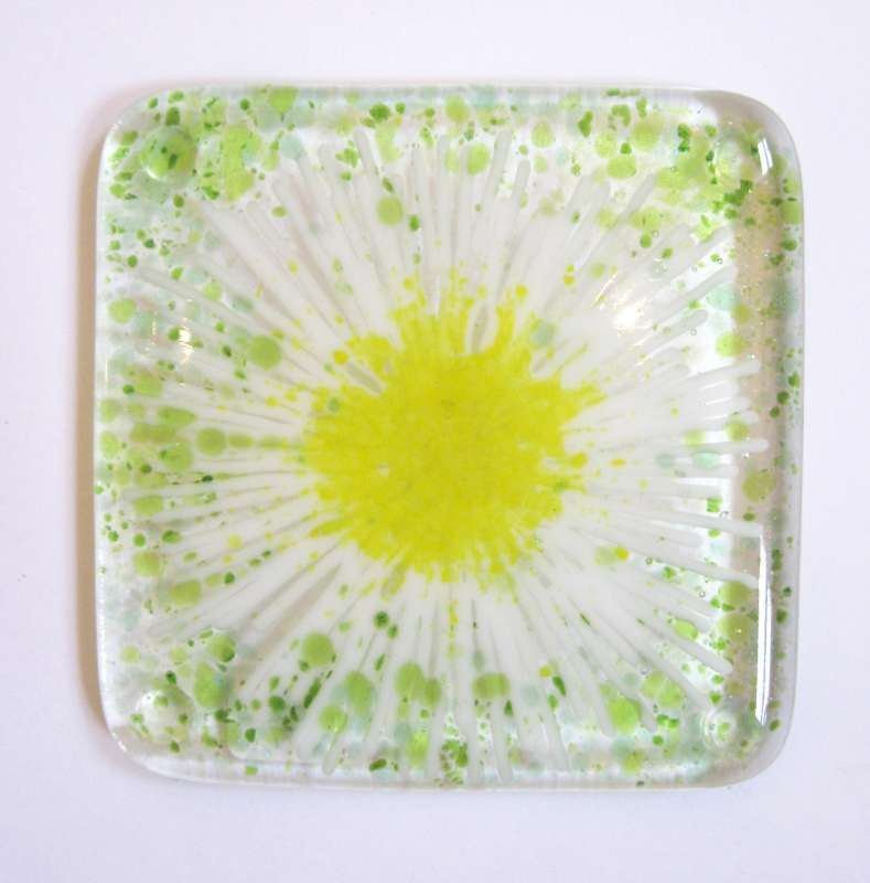 Green Daisy Coaster