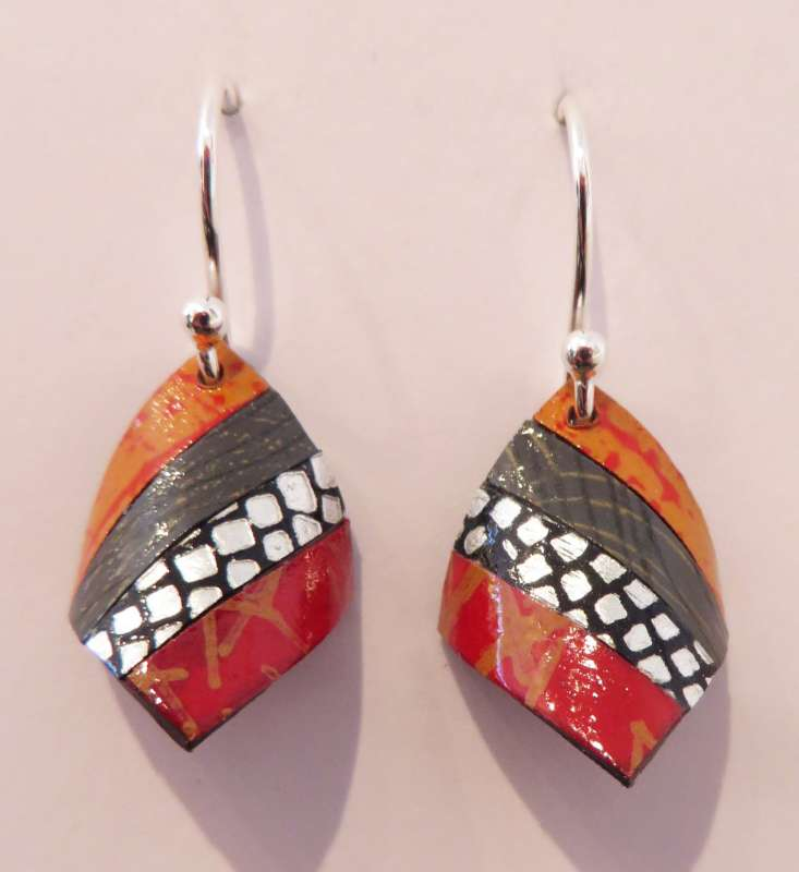Handkerchief Earrings (orange/red)
