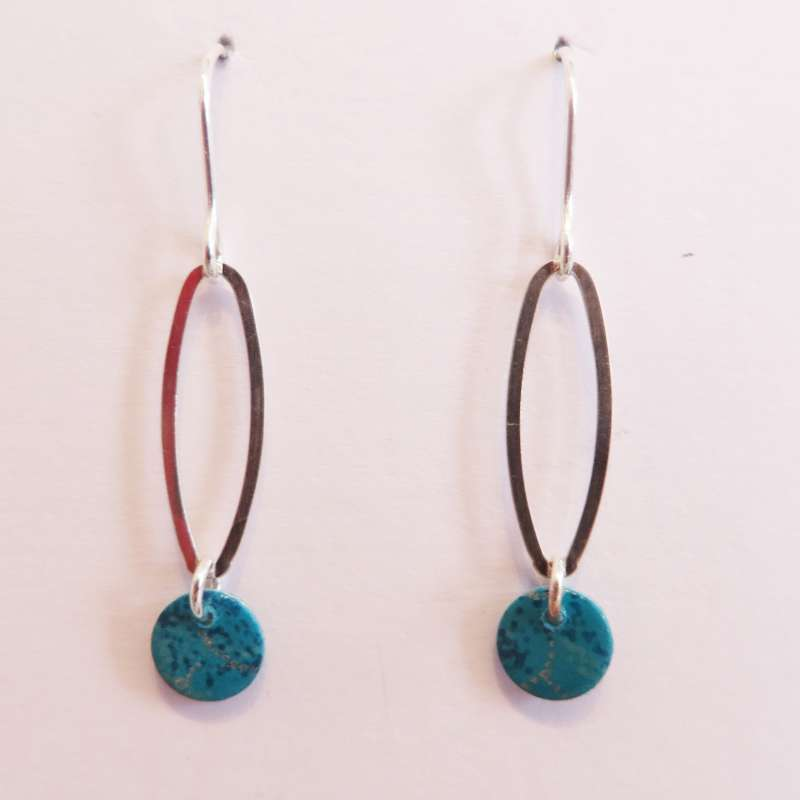 Oval Droplet Earrings