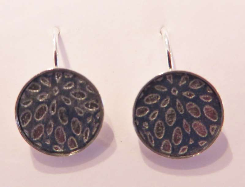 Circle Earrings (blue/silver)