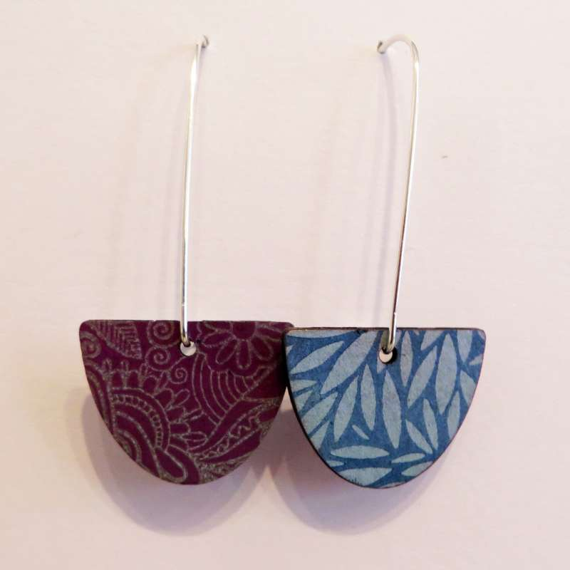 Reversible Semi-Circle Earrings