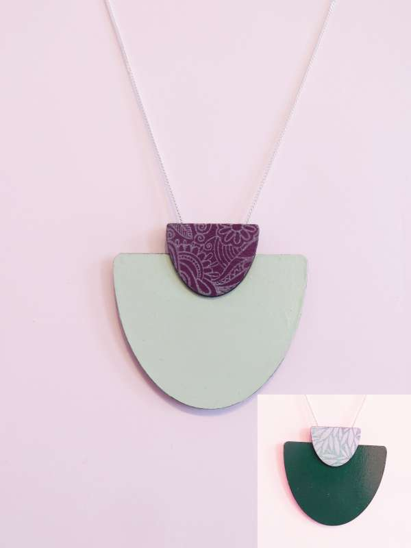 Reversible Semi-Circle Necklace