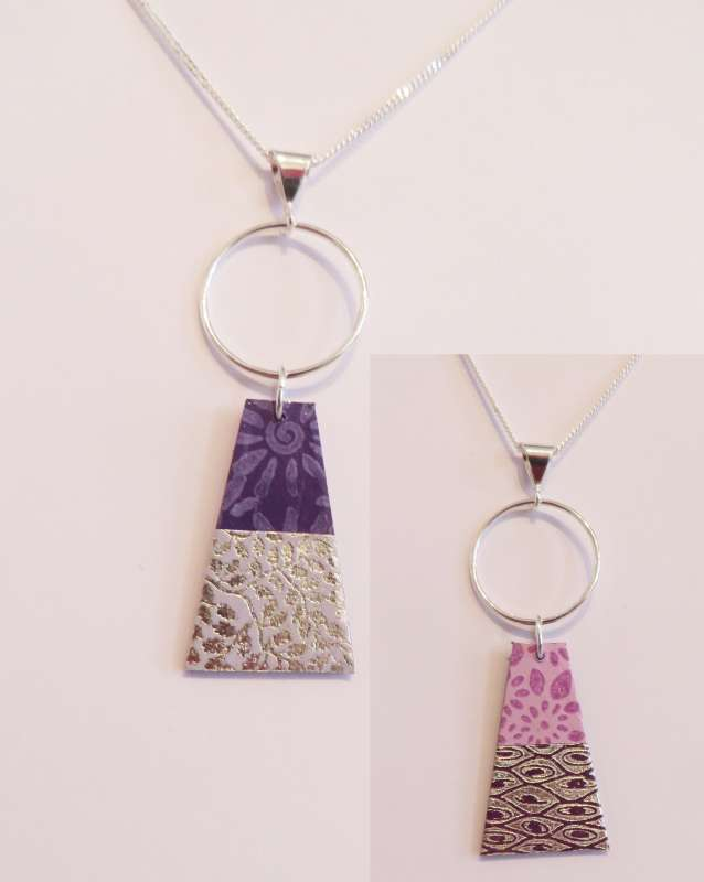 Reversible Trapeze Necklace