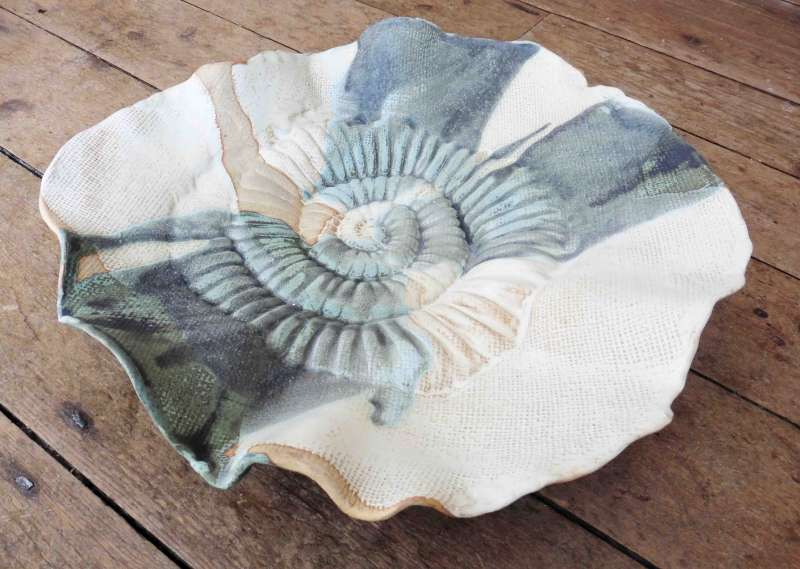 Large Ammonite Bowl III