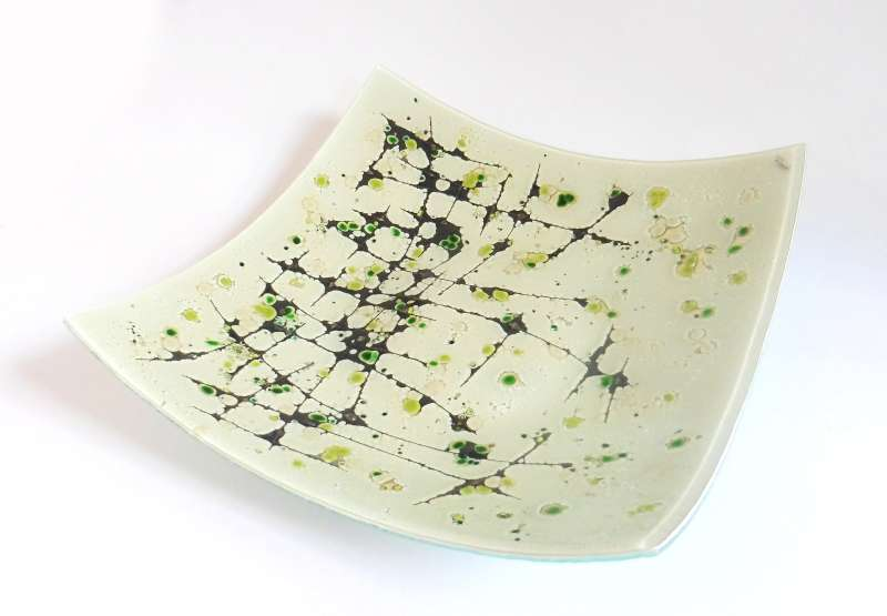 Extra Large Green Square Bowl