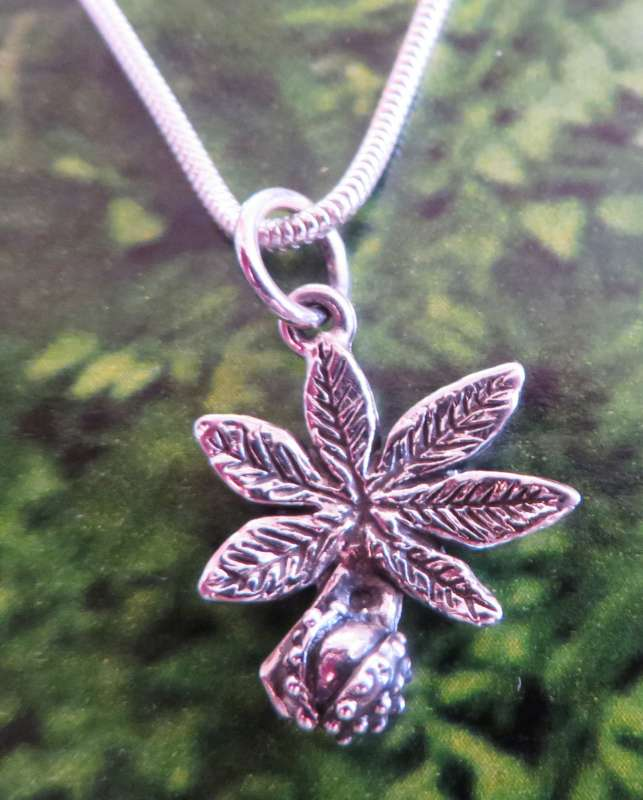 Horse Chestnut and Leaf Pendant
