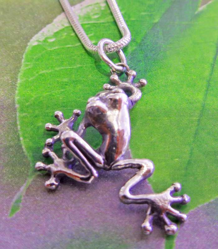 Small Red-Eyed Tree Frog Pendant