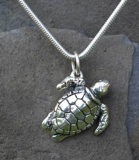 Green Sea Turtle Pendant