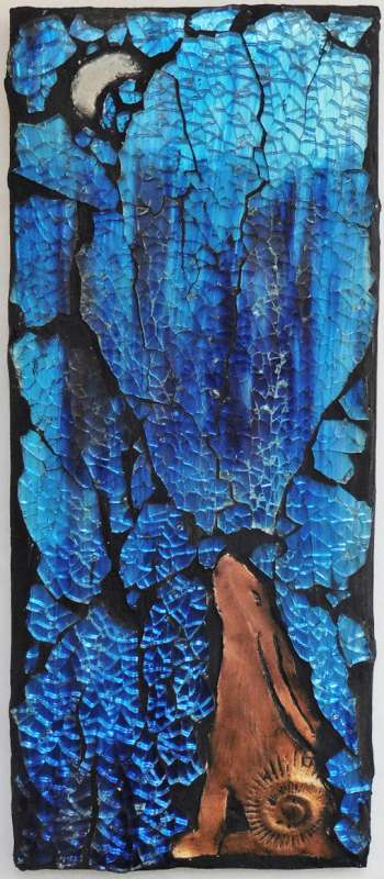 Moon Gazer - copper/blue