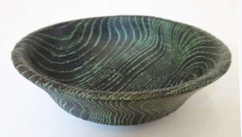 Burnt Verdigris Bowl