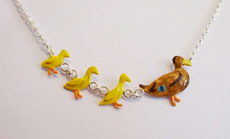 Duck Family Necklace