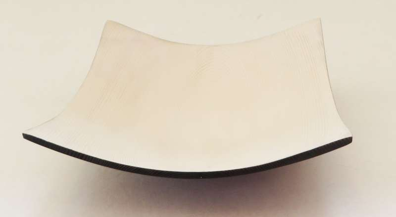 White and black square bowl