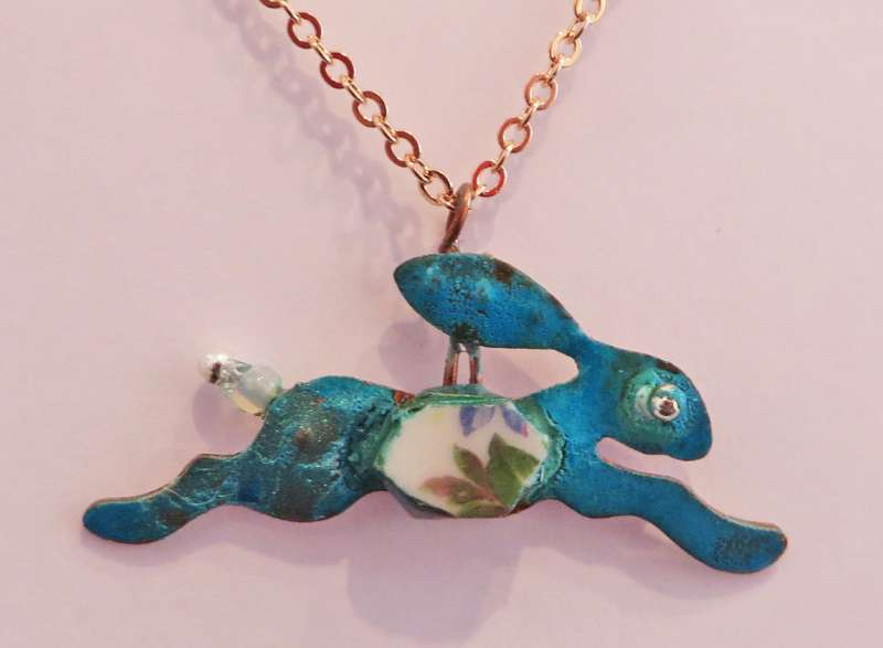 Running Hare Necklace I