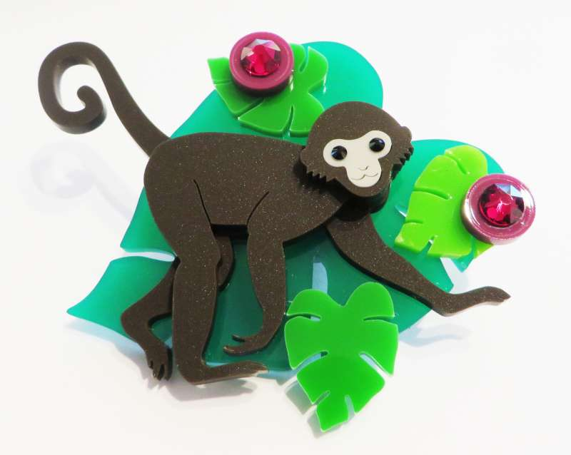 Spider Monkey Brooch