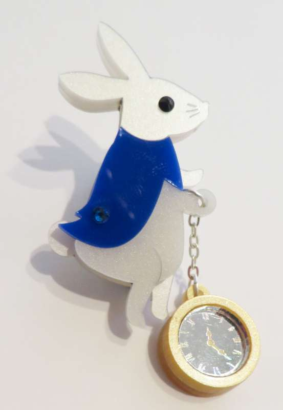 Wonderland White Rabbit Brooch