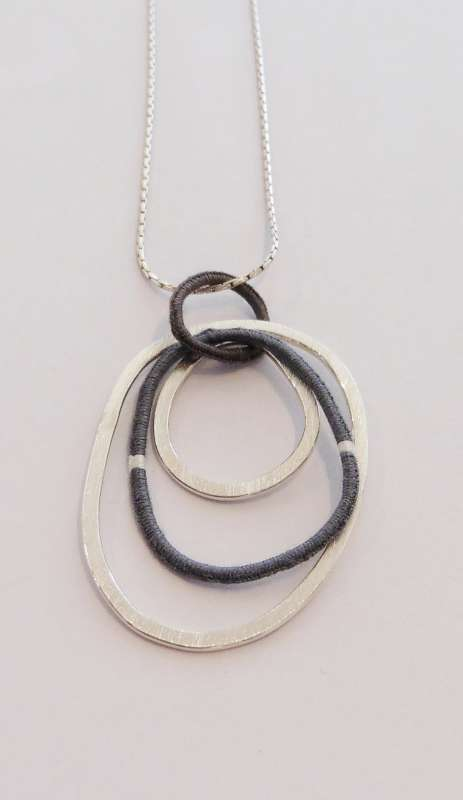 Pebbles pendant with 16-inch chain