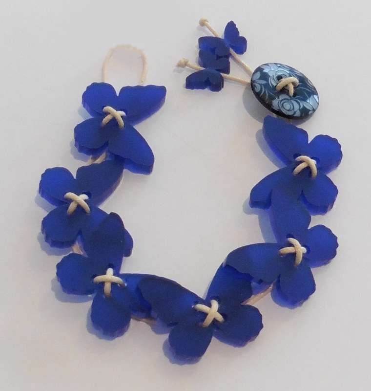 Butterfly Bracelet - Frosted Dark Blue