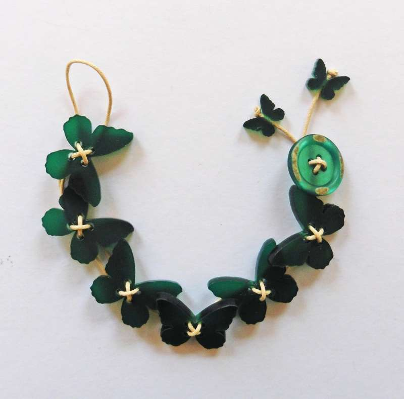 Butterfly Bracelet - Frosted Dark Green