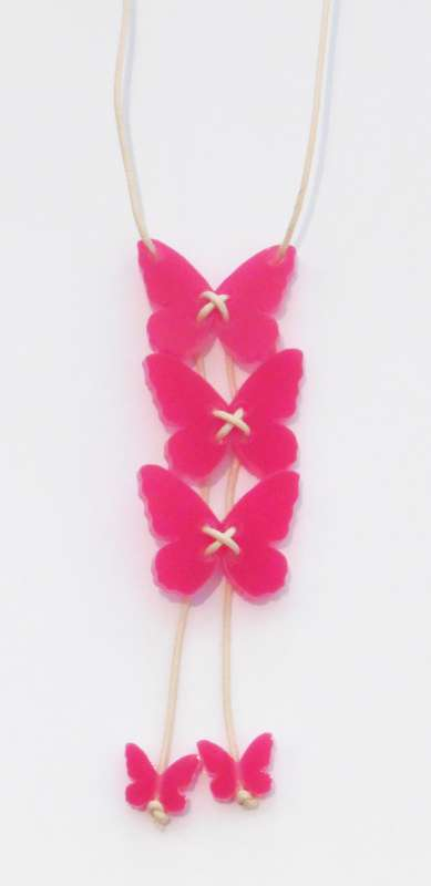 Butterfly Necklace - Opaque Fuchsia