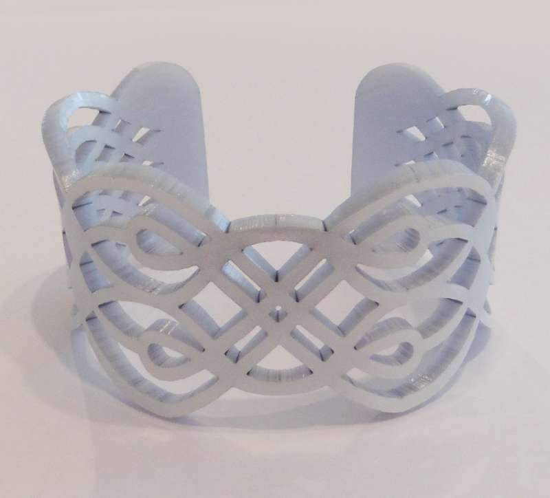 Lace Cuff - Light Blue Pearl