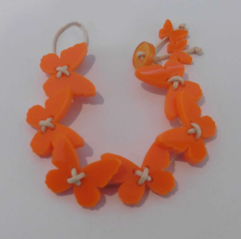 Butterfly Bracelet - Opaque Orange