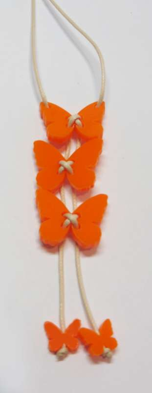 Butterfly Necklace - Opaque Orange