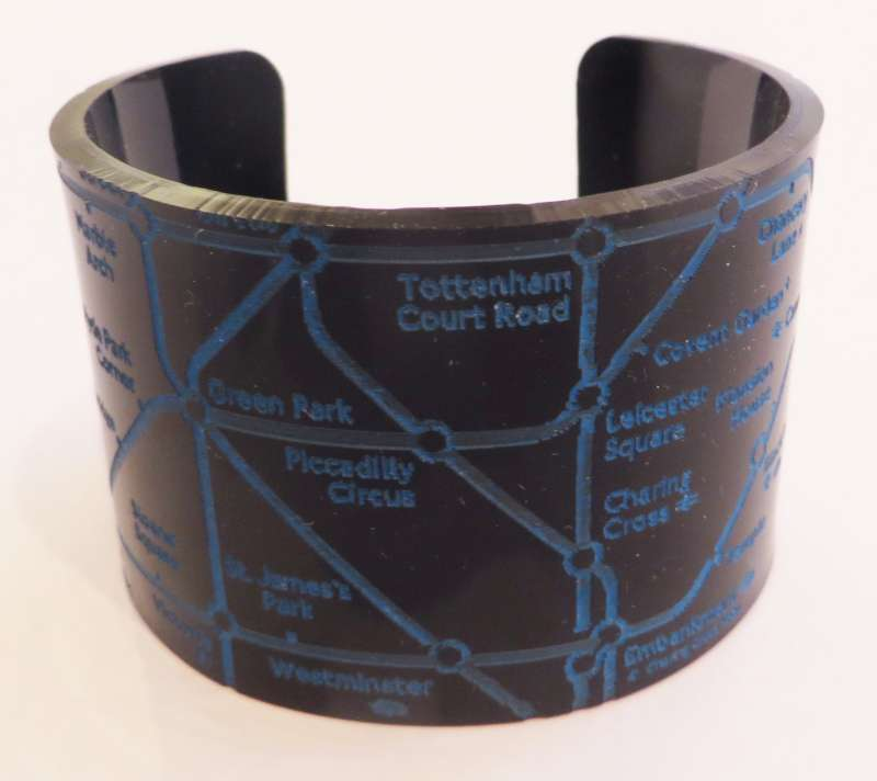 London Cuff - Blue on Black