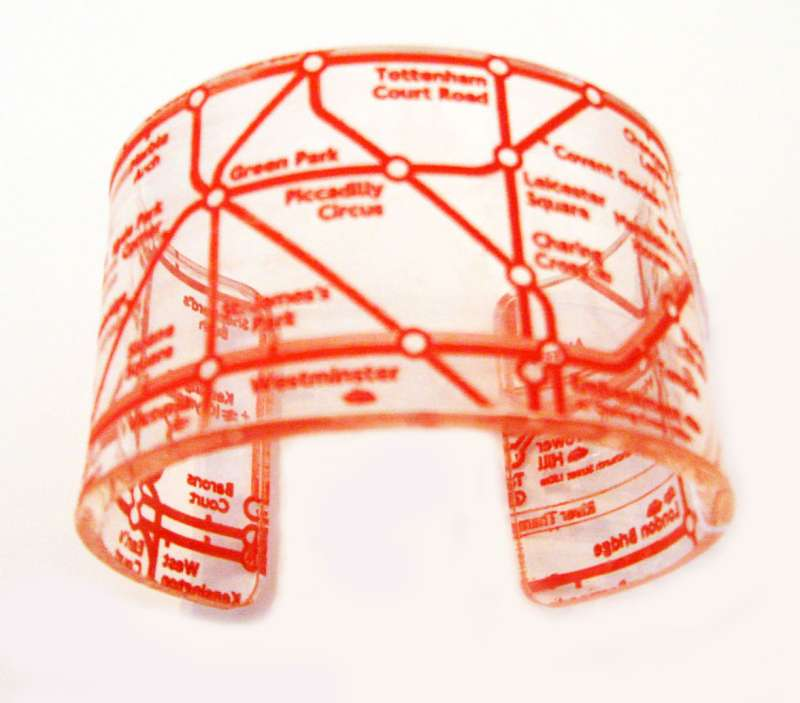 London Cuff - Orange on Clear