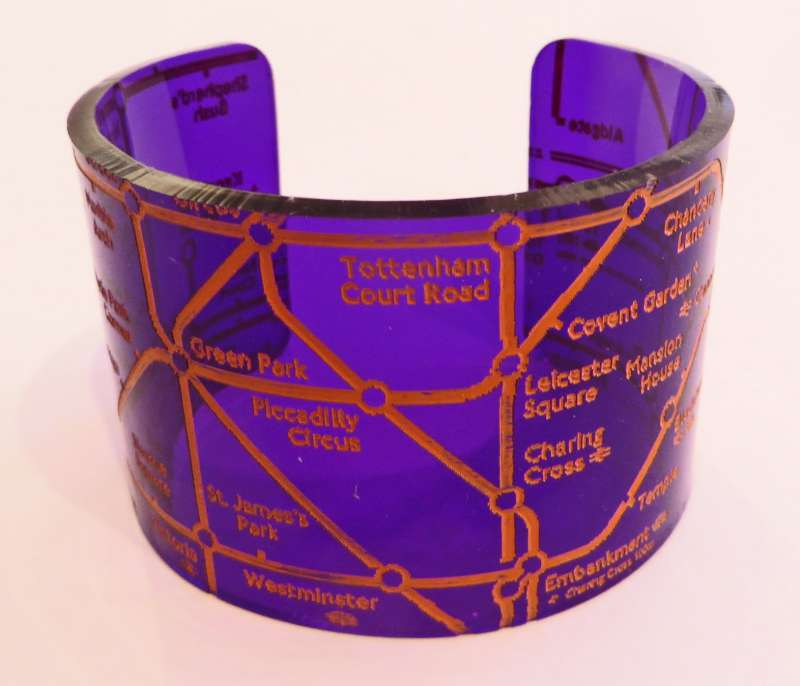 London Cuff - Orange on Purple