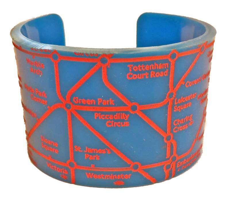 London Cuff - Peach on Turquoise