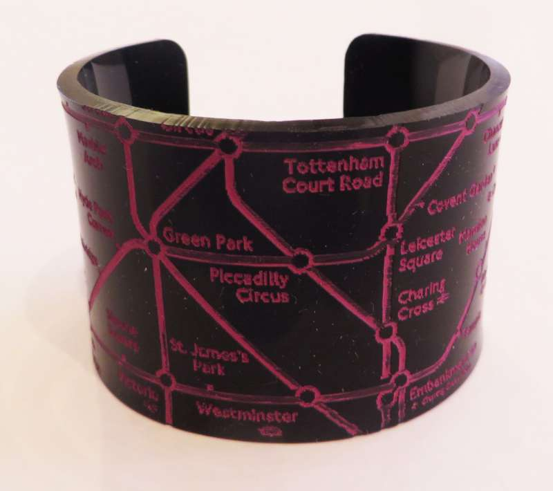 London Cuff - Pink on Black
