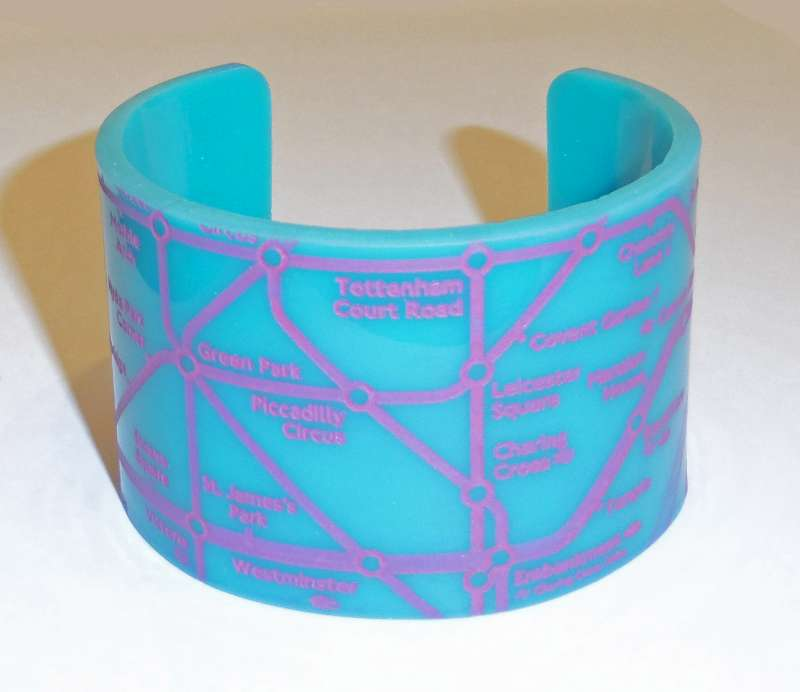 London Cuff - Pink on Turquoise