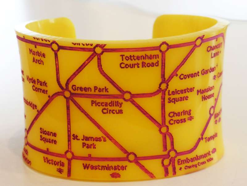 London Cuff - Red on Yellow