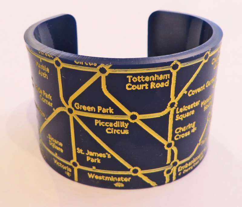 London Cuff - Yellow on Blue