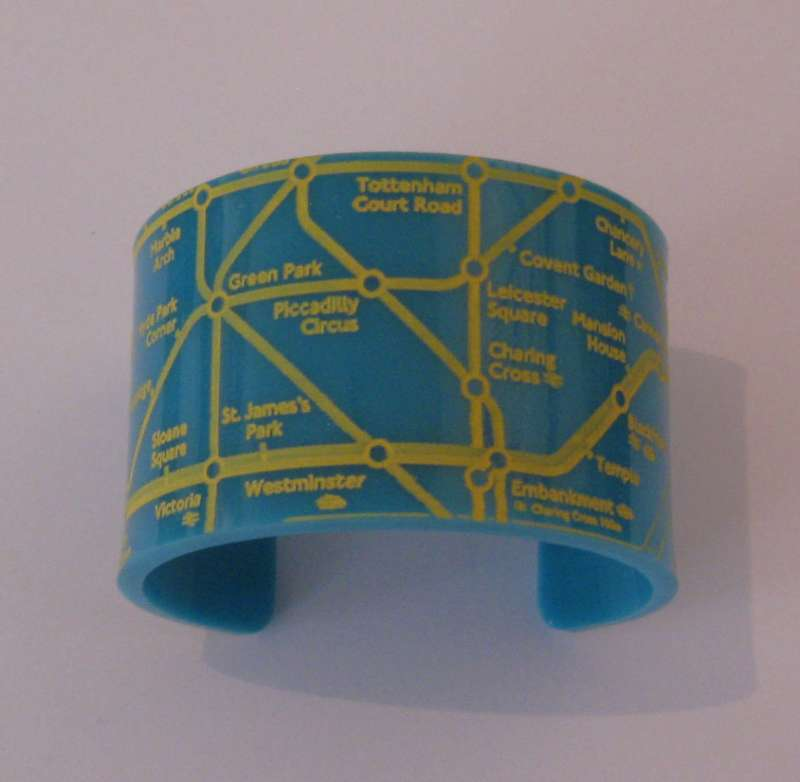 London Cuff - Yellow on Turquoise