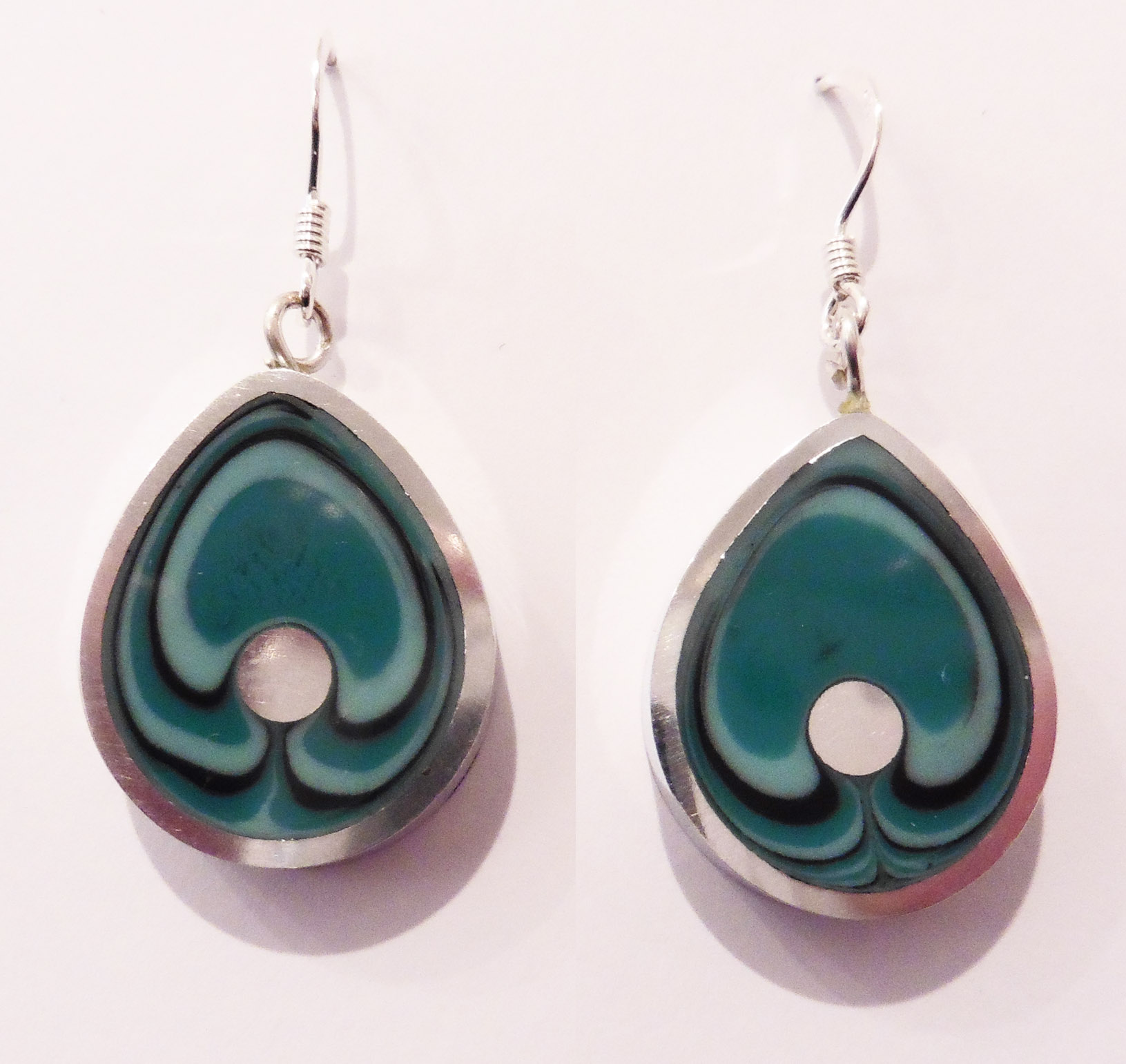 Teardrop lagoon earrings