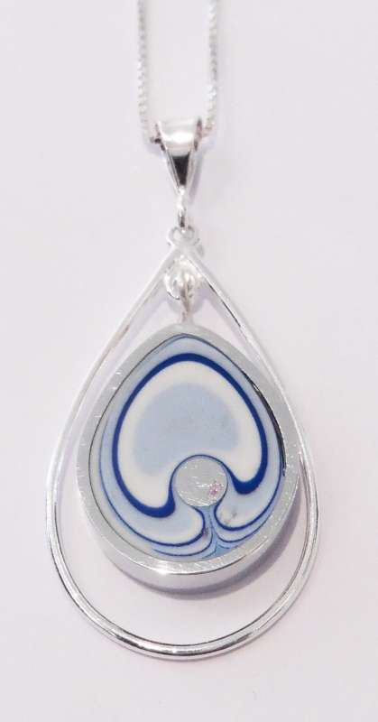 Teardrop seaside pendant