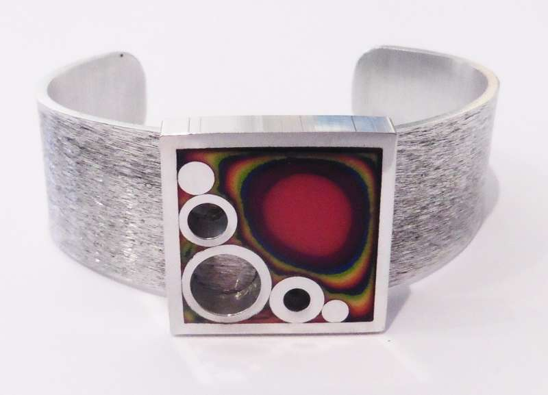 Square rainbow bangle