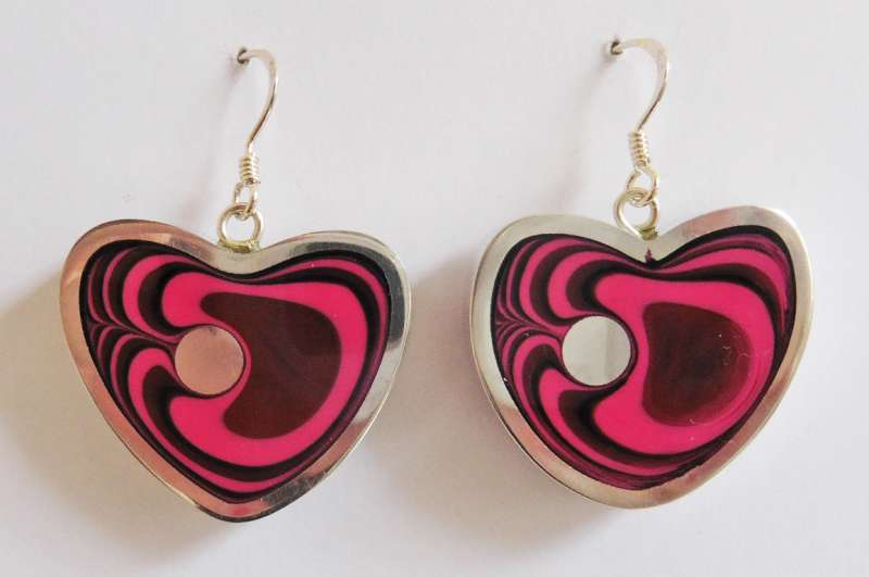 Heart azalea earrings (large)