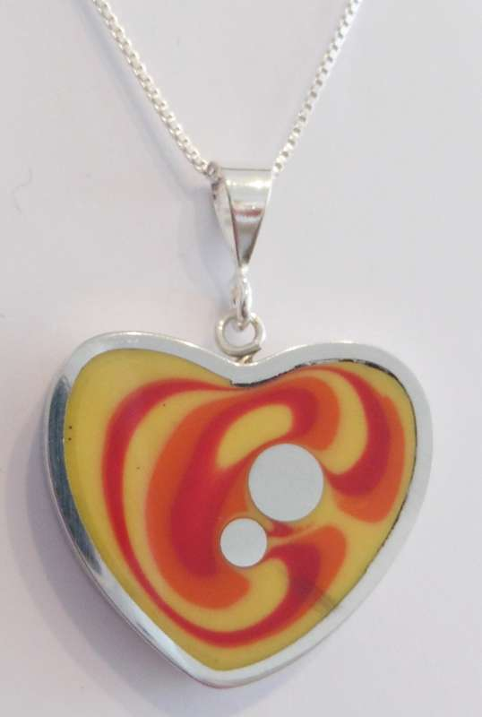 Heart sunset pendant