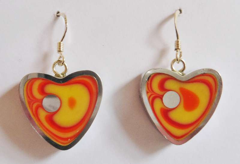 Heart sunset earrings