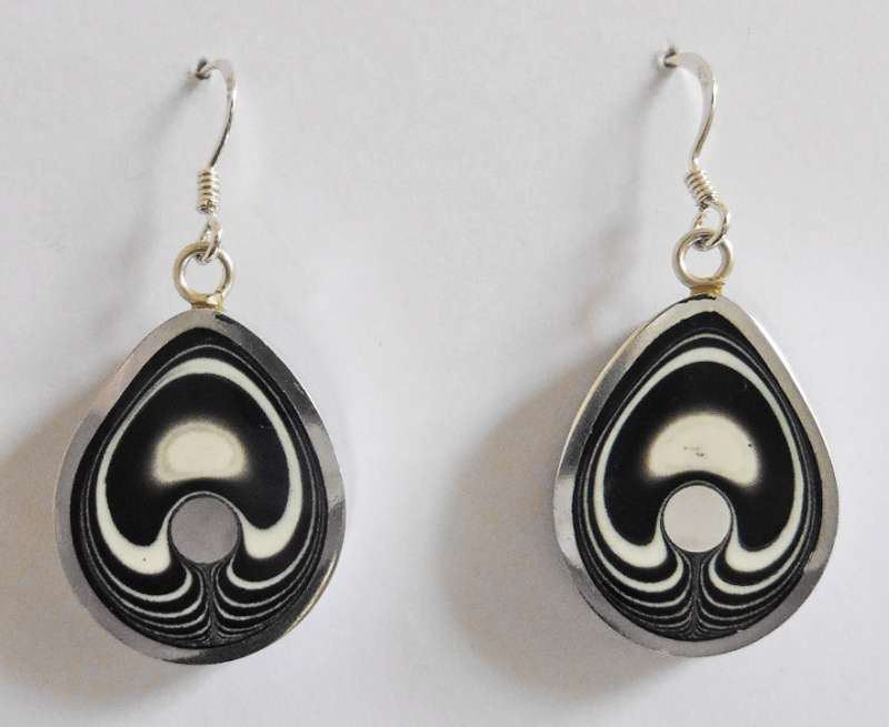 Teardrop zebra earrings