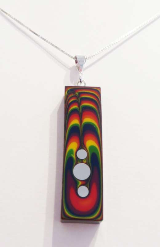 Rectangular rainbow pendant