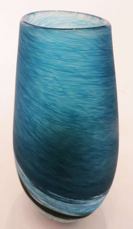 Tall Blue Seaspray Vase