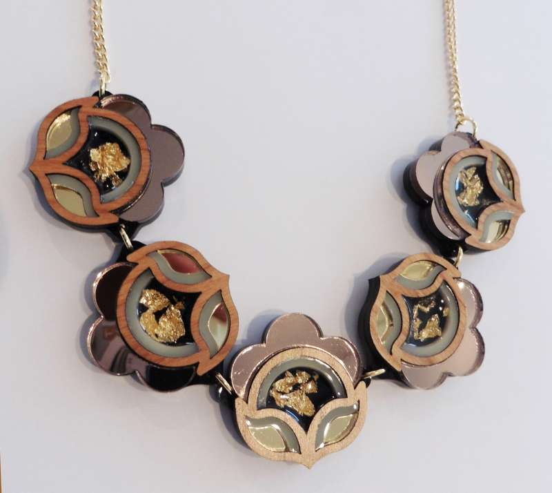 Flora link necklace - gold and silver