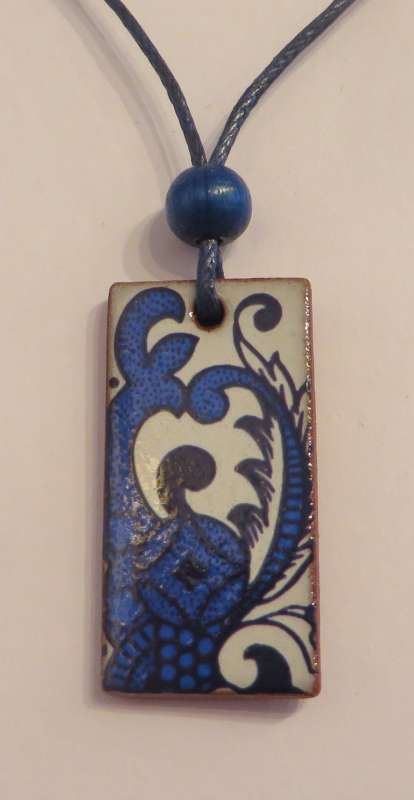 Blue Rectangular Pendant